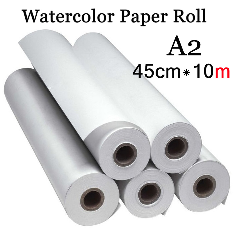 45cm*10m Water Color Painting Paper A2 Watercolor Paper for Acrylic paint Painting Drawing Art set Rice Paper Roll 45cm 10m water color painting paper a2 watercolor paper for acrylic paint painting drawing art set rice paper roll