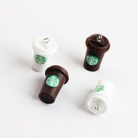 Wholesale 40PCs 15*25MM 3D Resin Coffee Cup Pendant Charms Jewelry Findings Platic Acrylic Ornament Accessories Bracelet Charm