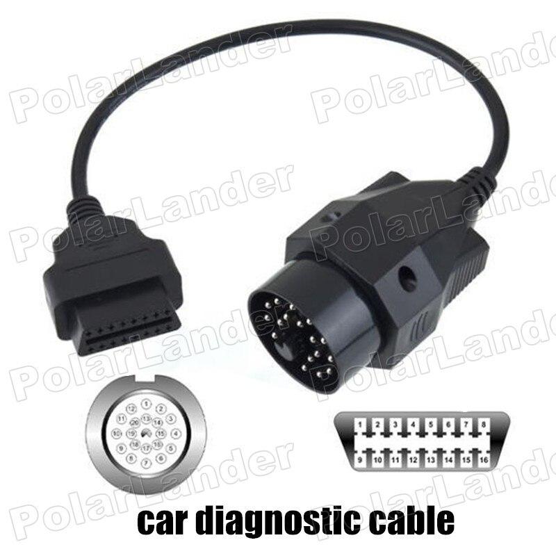 Prix pour Vente chaude 20 Broches à 16 Broches OBD2 OBD de voiture Scanner Adaptateur câble voiture de diagnostic adaptateur connecteur fit pour BMW E36 E39 X5 Z3