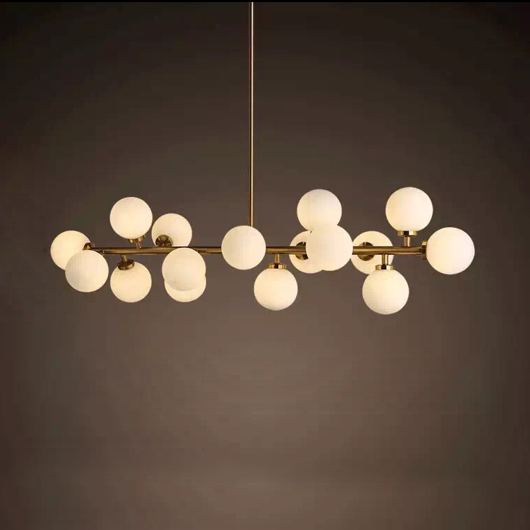 Length 1000mm Gold Black Led Pendant Lights Living Dining Room Modern Striplight Gl Lamp Fixtures In From