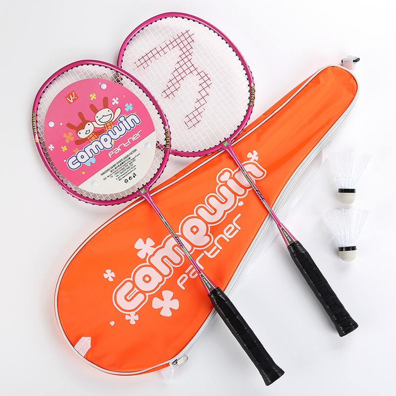 1 Pair Badminton Rackets For Children 3-12 Year Old Kids Aluminum Alloy Frame Racquets +2 Pieces Shuttlecock +1 Bag