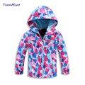 2017 niños outwear niñas niños chaqueta rompevientos primavera fleece lining 4-12y bebé chaqueta impermeable a prueba de viento sport tops