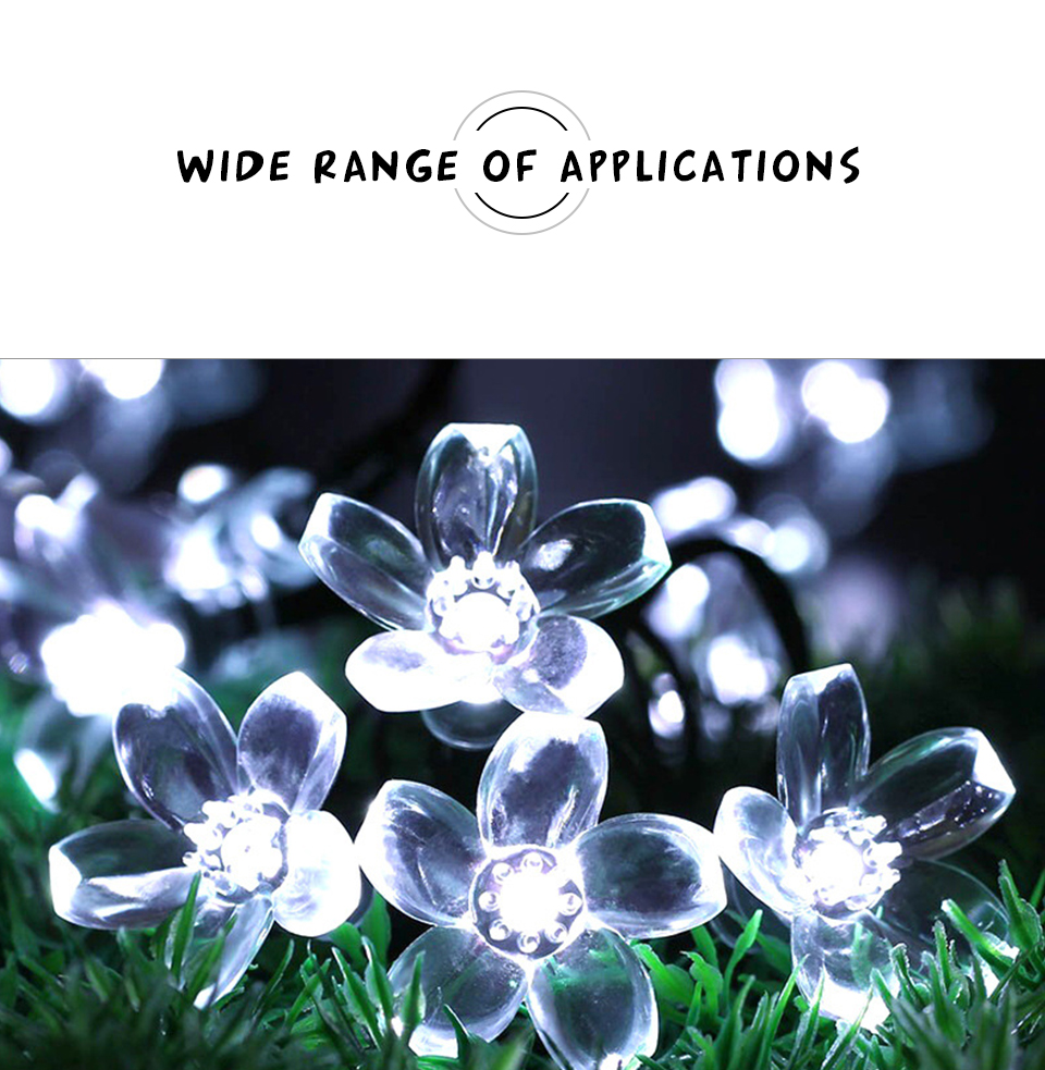 Solar String Lights 3050 LED Garland Outdoor Flower LED String Fairy Christmas Tree Light Party Wedding New Year Decoration (9)