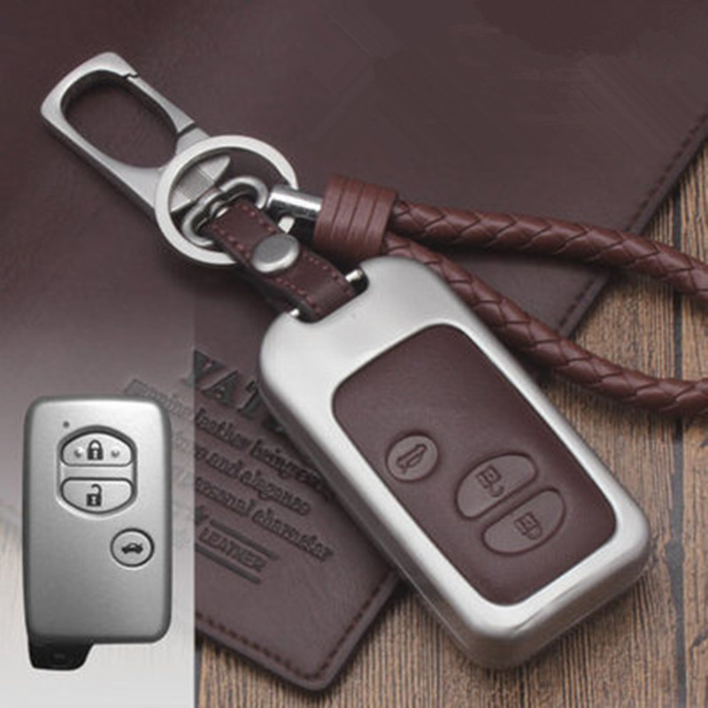 lowest price Leather Car Key Case Cover For Toyota Land Cruiser Prado 150 Camry Prius Crown For Subaru 2013 2014 Foreste Outback XV legacy