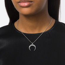 Risul Fashion OX Horn Charm Necklaces& pendants for Women Moon Necklaces Box Chain Stainless Steel  best friend jewelry Gift