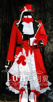 Hot Anime Pandora Hearts Oz Vessalius Red Gorgeous Dress Cosplay Costume Custom made Any Size Free Shipping