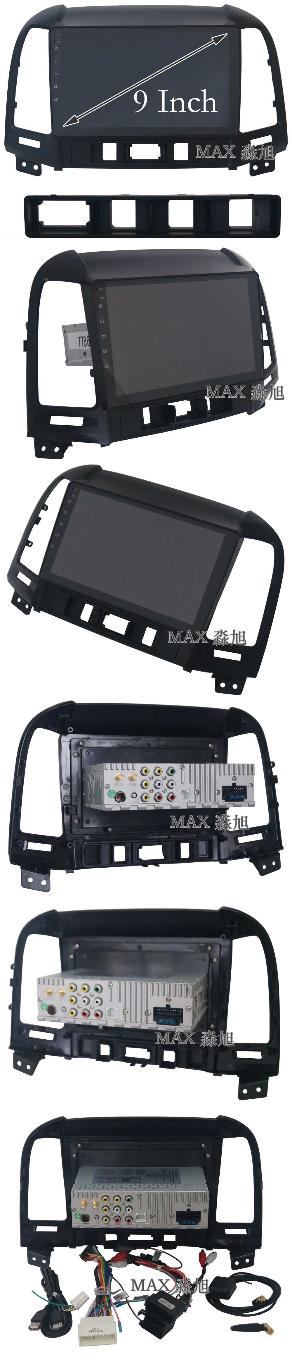 Flash Deal MAX Android 8.1 2G 32G 8 Core Car DVD Player for Hyundai santa fe 3/4holes with 2.5D+IPS Screen car stereo radio RDS Maps swc 1