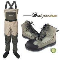 Fliegen Angeln Kleidung Waders Outdoor Jagd Waten Hosen und Schuhe Aqua Turnschuhe Overalls Filz Sohle Angeln Stiefel Schuhe FXMU1