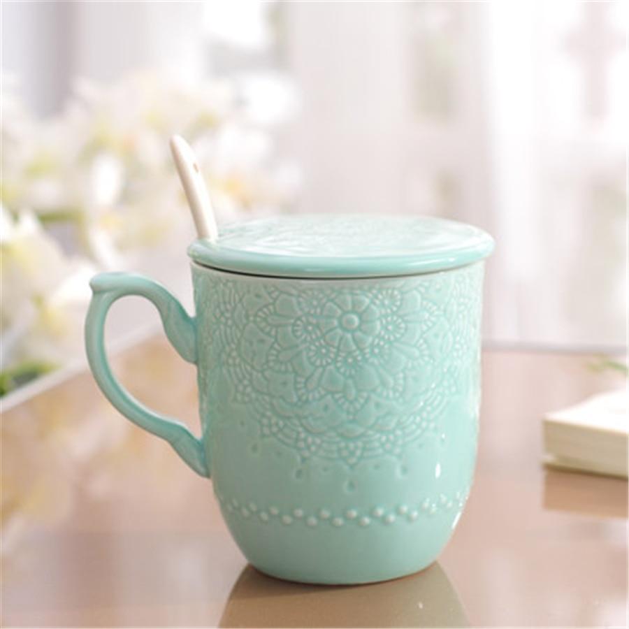 Simple Creative Ceramic Coffee Mugs Cup With Lid Milk Art Supplies Tazas Brief Eco Friendly