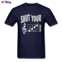 Men Male T Shirt 100 Cotton Crewneck Short Sleeve Funny Musical Notes 2017 New Styles Tees