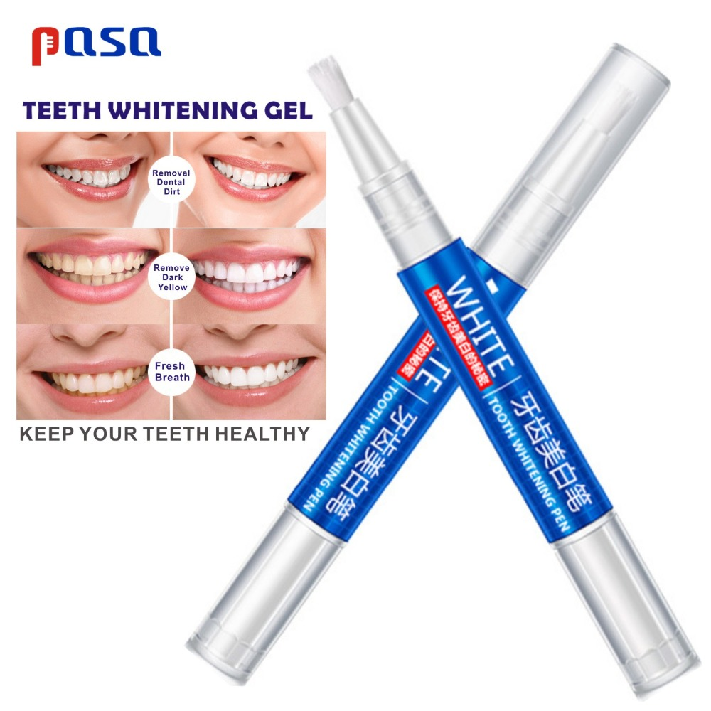 3ml*2pcS Popular White Teeth Whitening Pen Tooth Gel Bleach Remove Stains Oral Hygiene Home Tooth Bleaching Pen HOT SALE