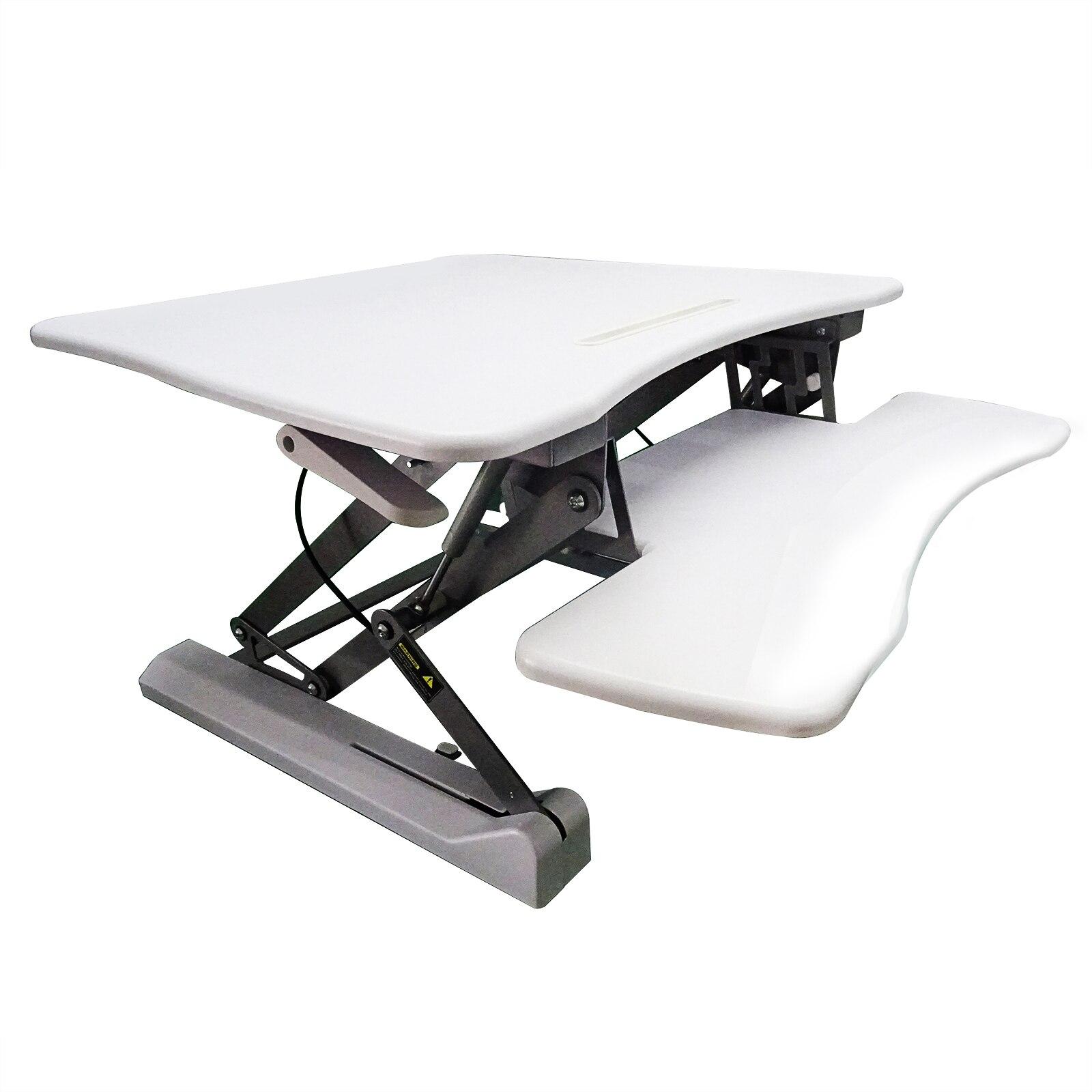 90x59CM Adjustable Height Stand Up Desk TV Stand Computer Office Laptop Workstation Holder black white MAYITR