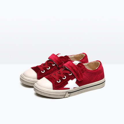 T.S. kids shoes NEW Canvas shoes spring autumn gold velvet stars non - slip children 's casual shoes for girls boys flat shoes new arrival spring autumn children shoes boys girls single shoes girls boys sneakers high quality casual canvas cs 119