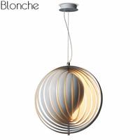 Современные шар подвесные светильники Луна лампы светодио дный Hanglamp чердак висит светильники для Гостиная Кухня Home Decor Светильник