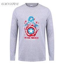 New Cool Iron Man T Shirt Men Fashion Long Sleeve Cotton Marvel T Shirts Men The Fisrt Avenger T-shirt Tees Top Freeshipping