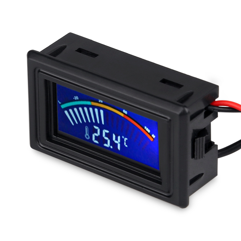 LCD Digital Pointer Thermometer Car Water Temperature Meter Gauge C F Switch For Computer PC Case Air Condition Boilers in Temperature Instruments from Tools