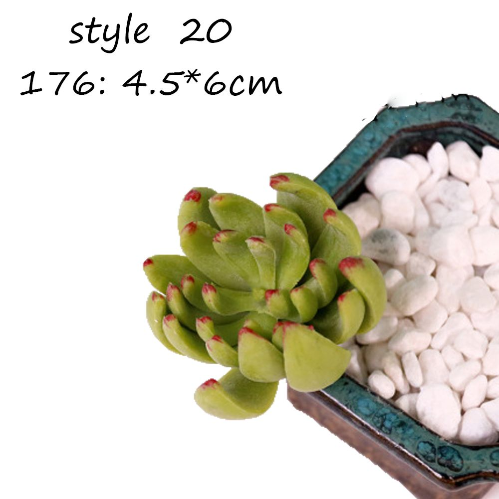22 styles Artificial Succulents Plant Garden Miniature Fake Cactus ...
