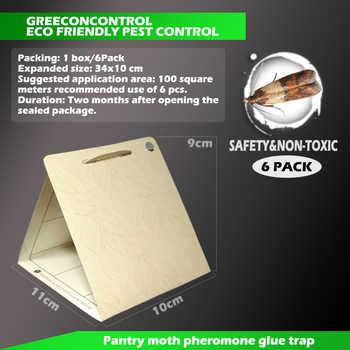 DXBQYYXGS 6pcs/Box Female pheromone moth trap Pest control Home physics Strong viscose Killer Moth Safety&Non-toxic