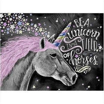 Disegno Unicorno Fatto A Mano di Vernice di Alta Qualità della Tela di Canapa Bella Pittura By Numbers Regalo A Sorpresa Grande Realizzazione
