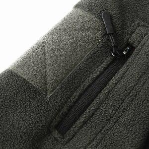Image 5 - Mege 브랜드 의류 코트 남성 Thicken Warm Military Army 양털 재킷 패치 워크 멀티 포켓 Polartec Mens Jacket and Coats