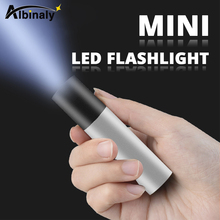 USB Rechargable Mini LED Flashlight 3 Lighting Mode Waterproof Torch  Telescopic Zoom Stylish Portable Suit for Night