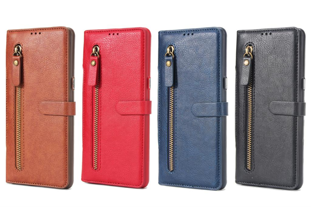 2 In 1  Leather Samsung Galaxy S8 S9 Plus S7 Edge Note 8 Zipper Flip Cover Magnetic Phone Samsung S9