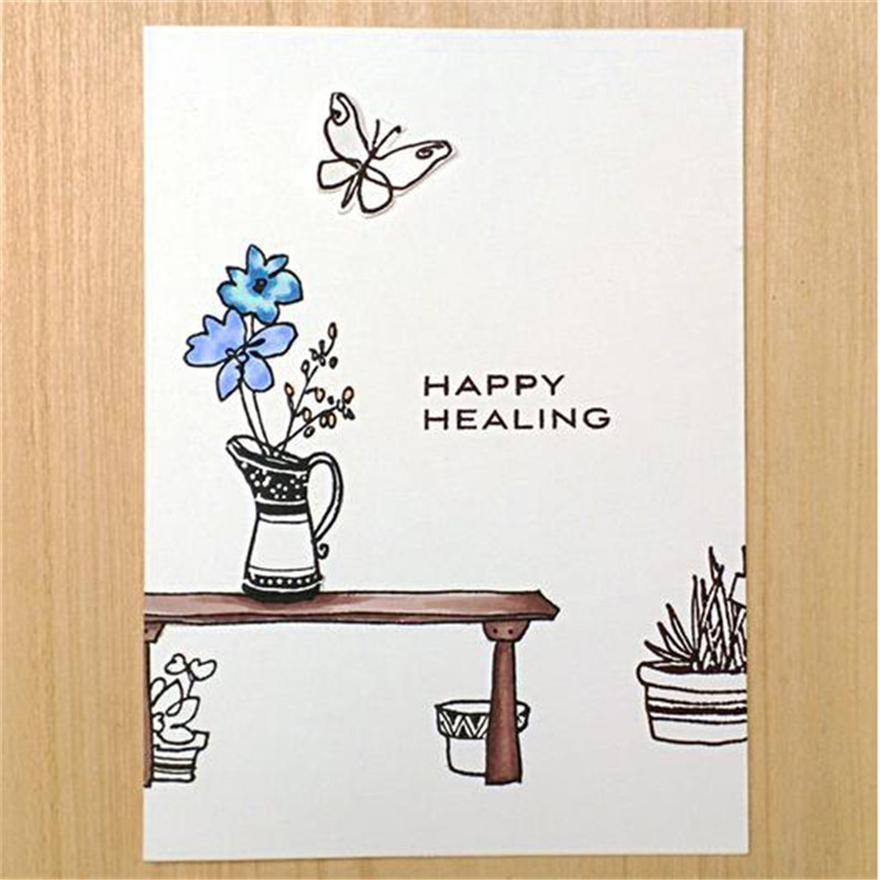 DiyArts Garden Grow Metal Cutting Dies and Clear Stamps for Scrapbooking Card Making Embossing Stencils New 2019