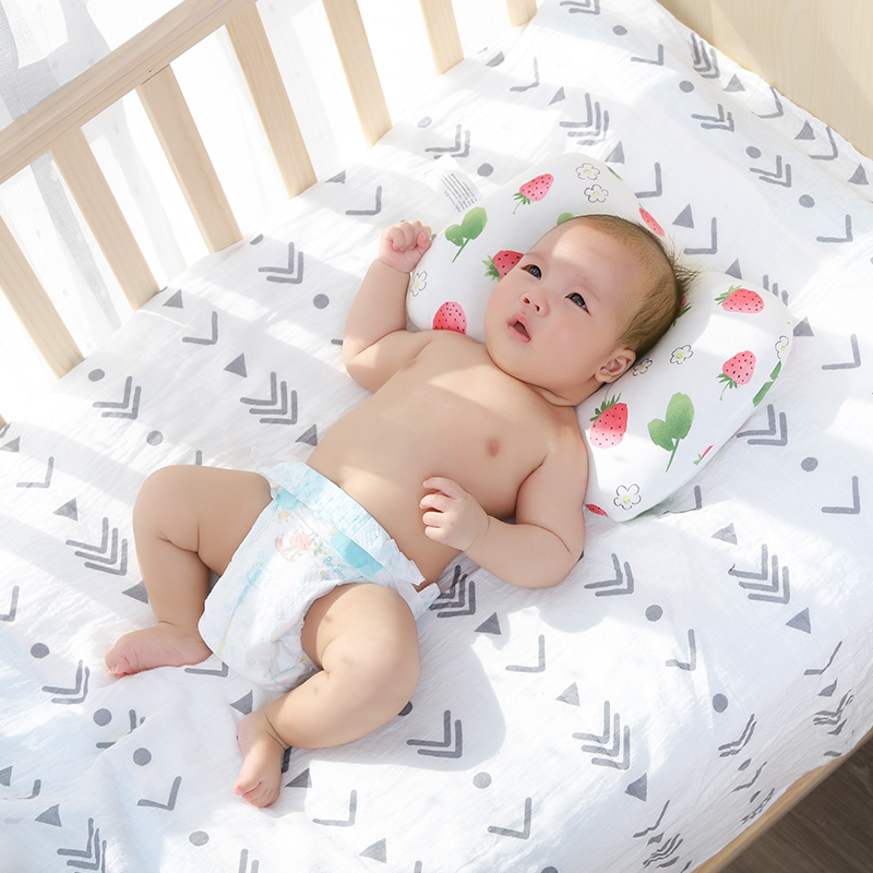 comfortable infant support anti roll baby pillow cushion to prevent flat head neck