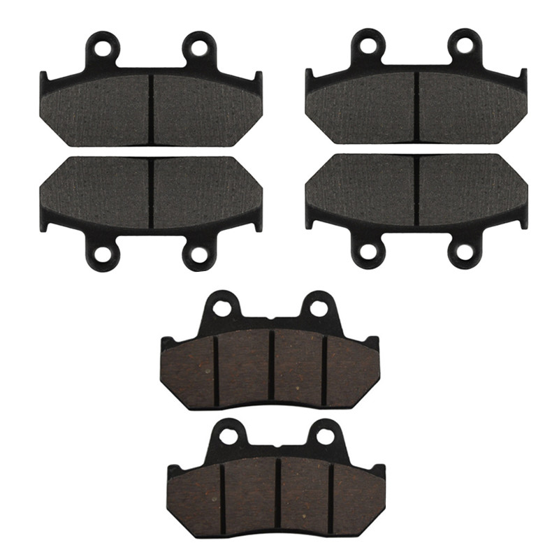 Motorcycle Front & Rear Brake Pads Disc Kit For HONDA VFR700 VFR750 Interceptor / CBR750 / CBR1000F CBR1000 F Hurricane / GL1500 motorcycle front and rear brake pads for honda gl1500 gl1500se gl1500l goldwing gl1500 se l 1990 2000 black brake disc pad set