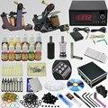 OPHIR Pro Whole Set Tattoo Kits 2 Tattoo Machine Guns 12x10ml Ink Pigments Tattoo Supplies Needle Nozzle Set Body Art Tool_TA074