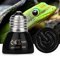 Pet Heating Light Bulb E27 50W 100W 220-240V Infrared Ceramic Emitter Heat Light Lamp Bulb Black For Reptile Pet Brooder
