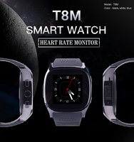 RsFow Smart Watch T8M with Heart Rate Monitor Passometer Bluetooth Smart watch Men Women Watch For huawei Android&IOS VS M26 U8