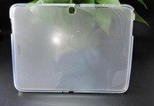 Tpu suave silicona protectora case para samsung galaxy tab3 tab 3 10.1 p5200 p5210 de la tableta fundas coque cubierta capa transparente