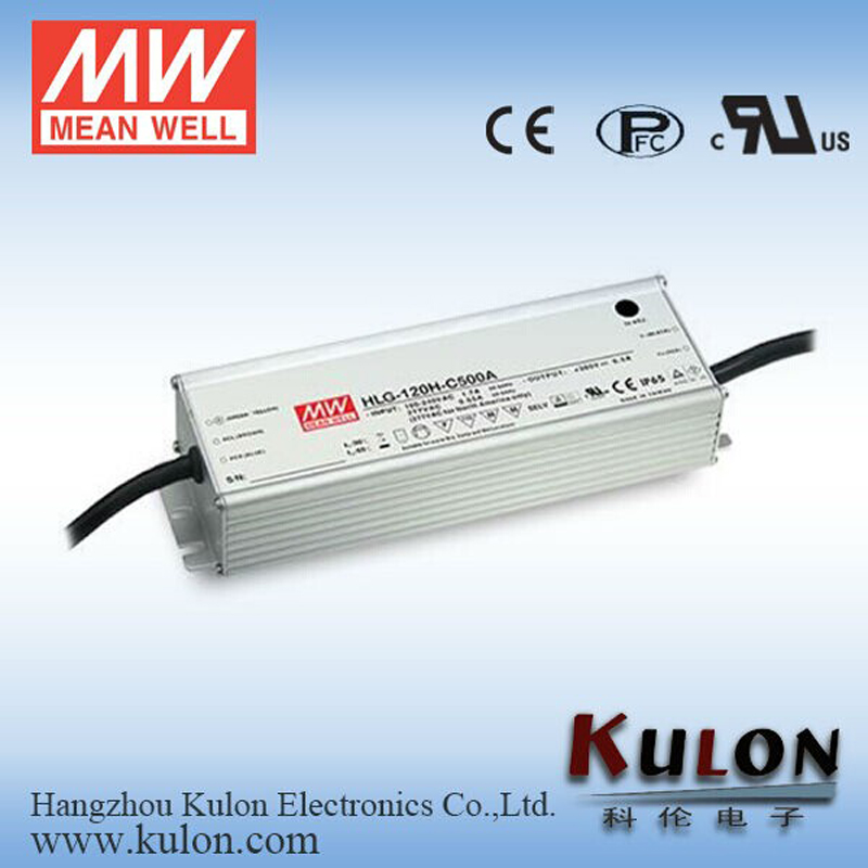 цена на Original MEAN WELL HLG-120H-C1050B adjustable LED Power Supply waterproof 155.4W 74V ~ 148V 1050mA 7 years Warranty