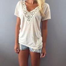 Pohodlné dámské tričko s krátkým rukávem a krajkou