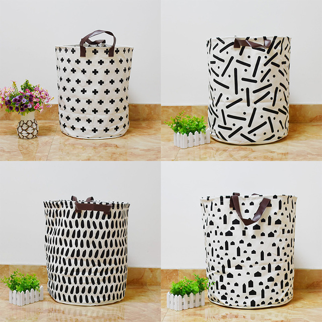 Newest Storage Bag Cross Geometry Cars Pattern Baby Clothes