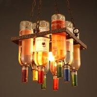 Светодиодный nordic люстра Ресторан подвесной светильник Промышленных Ретро светильники Лофт подвесные светильники крючок кулон освещения