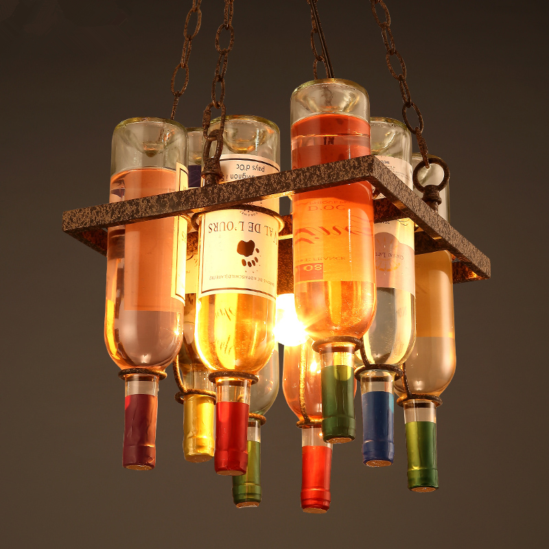 LED nordic chandelier restaurant suspended lamp Industrial retro lighting fixtures loft hanging lights bar pendant illumination colorful retro vintage loft led pendant light industrial hanging lamp indoor lights home fixtures for restaurant bar living room