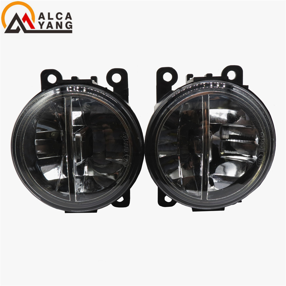 Malcayang For Mitsubishi OUTLANDER 2 PAJERO 4 L200 Grandis 2003-2016 Car-styling LED fog lamps10W high brightness lights 1set комплект проставок для лифт кузова pajero 2