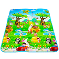 Double Sided High Quality Animal Car+Fruit Letter Baby Play Mats Crawling Pad Kids Game Carpet Toys For Children Developing Rug