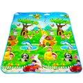 Dupla Face de Alta Qualidade Animal Do Carro + Carta de Frutas Crawling Pad Crianças Jogo Tapete Tapetes de Jogo Do Bebê Brinquedos Para As Crianças desenvolvimento de Tapete