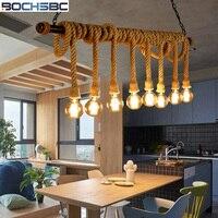 BOCHSBC Лофт креативные водопроводные пеньковые веревки железного искусства подвесные светильники для гостиной кафе бар скандинавского Ретр