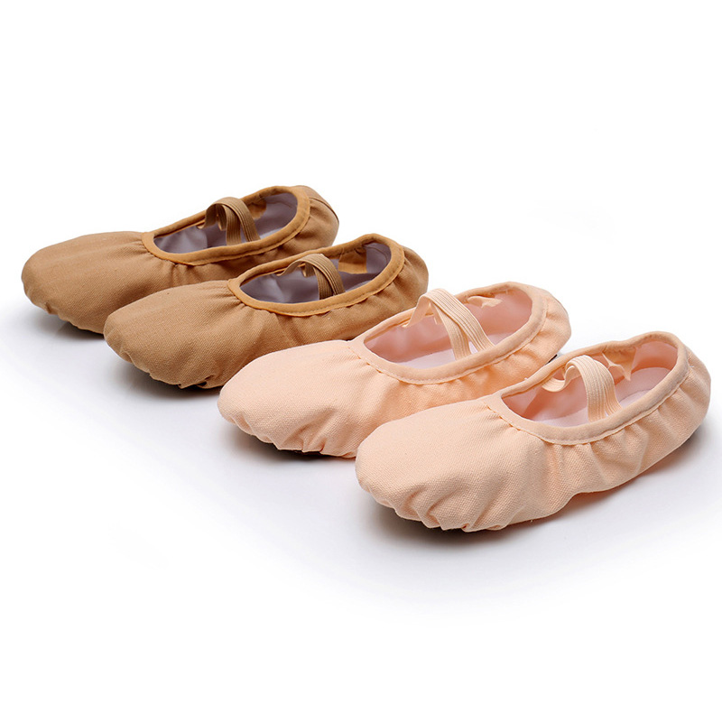 USHINE New Professional Full Rubber Band Shoelace Training Body-shaping Yoga Slippers Shoes Ballet Dance Shoes Kids Girls Woman