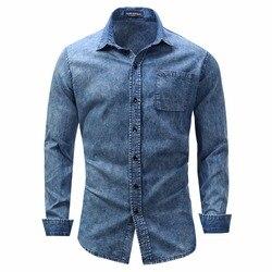 Новое поступление, мужская рубашка, рубашка с длинным рукавом, мужские рубашки, Брендовые повседневные модные рубашки в деловом стиле, 100% хл...