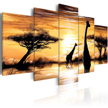5 Panel Wall Pictures for Living Room Picture Print Painting On Canvas Art Home Decor Print/PJMT-B (279)