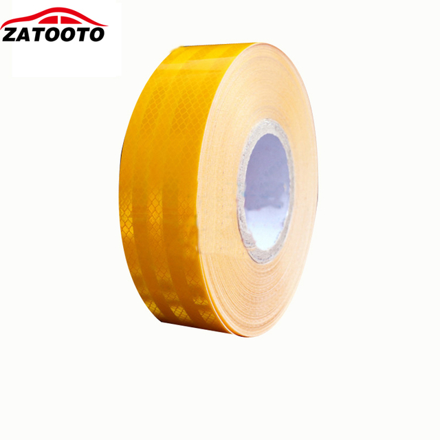 "2""*150' High Quality Yellow Reflective Warning Conspicuity Tape conspicuity strips Trailer Truck Safety"