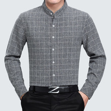New Arrival 2018 Spring Business men s fashion Wool Polyester fiber Open Stitch Dress Shirts Mens