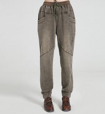 1c4ef18df0745 Harem pants for women plus size cotton 96% plus size elastic waist autumn  spring bloomers