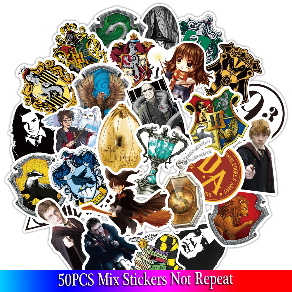 50PCS Pack Harry Classic Stickers Set Stickers For Kids Luggage Skateboard Laptop Cartoon Anime Stickers For Children50PCS Pack Harry Classic Stickers Set Stickers For Kids Luggage Skateboard Laptop Cartoon Anime Stickers For Children