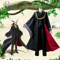 S XL The Ancient Magus' Bride Elias Ainsworth Outfit Cosplay Costume Full Sets with Gloves for Men Male Halloween Party Uniform